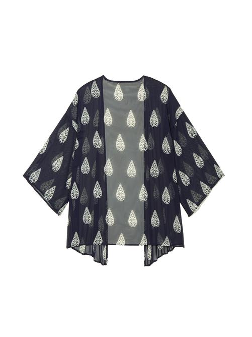 Julie Sheer Printed Kimono 1