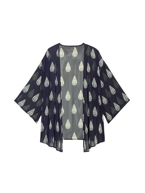 Julie Sheer Printed Kimono 0