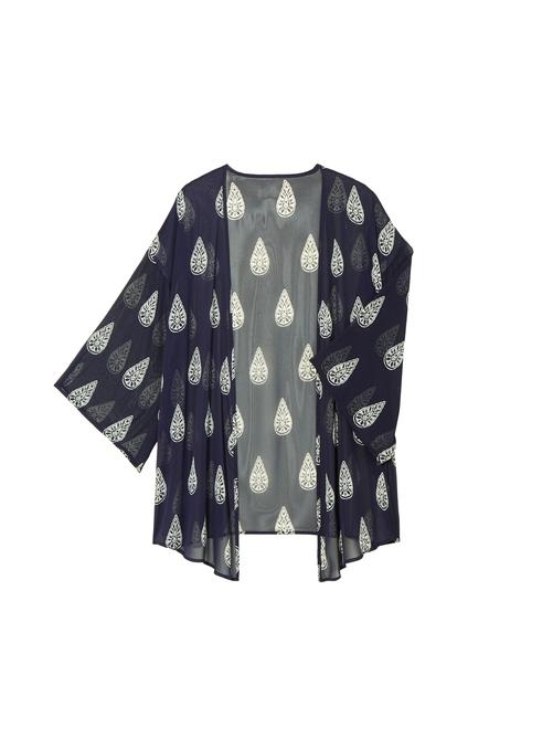 Julie Sheer Printed Kimono 2