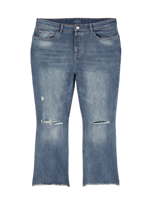 Union Destructed Crop Bootcut Jean