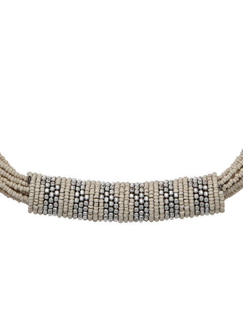 Zina Seed Bead Statement Necklace