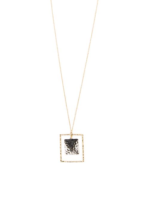 Jasmine Square Pendant Necklace