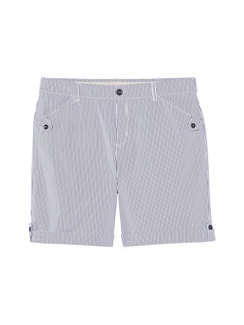 Warsaw Seersucker Bermuda Shorts with Rolled Cuff