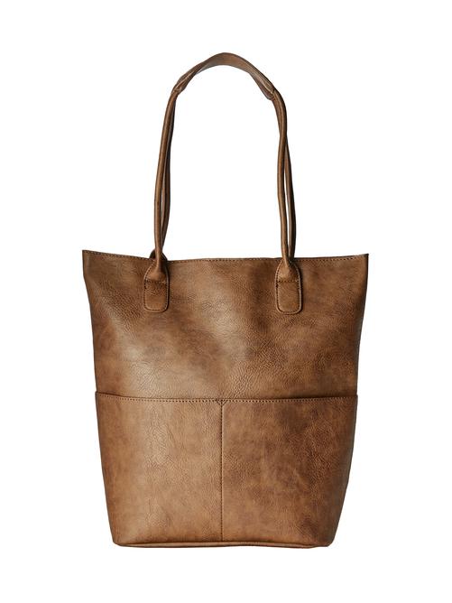 Kels North South Vegan Leather Tote Bag