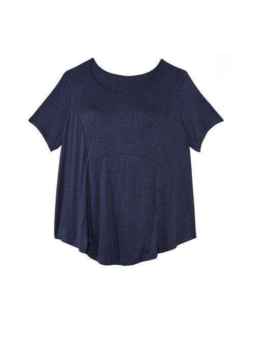 Nati French Terry A-Line Knit Tee