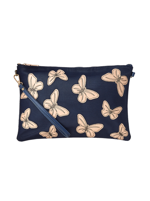 Emilia Butterfly Wristlet With Adjustable Strap