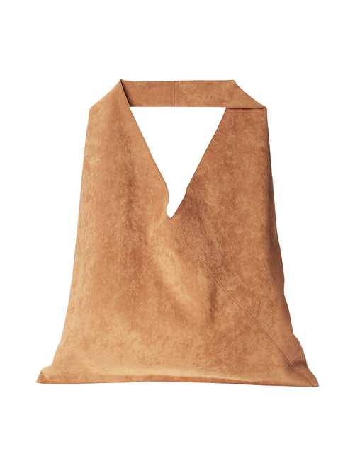 Auburn Reversible Faux Suede Hobo Bag