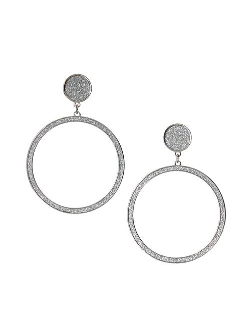 Malia Glitter Paper Hoop Earrings