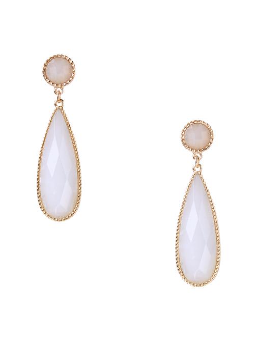 Vivian Mother-of-Pearl Stone Teardrop Earrings