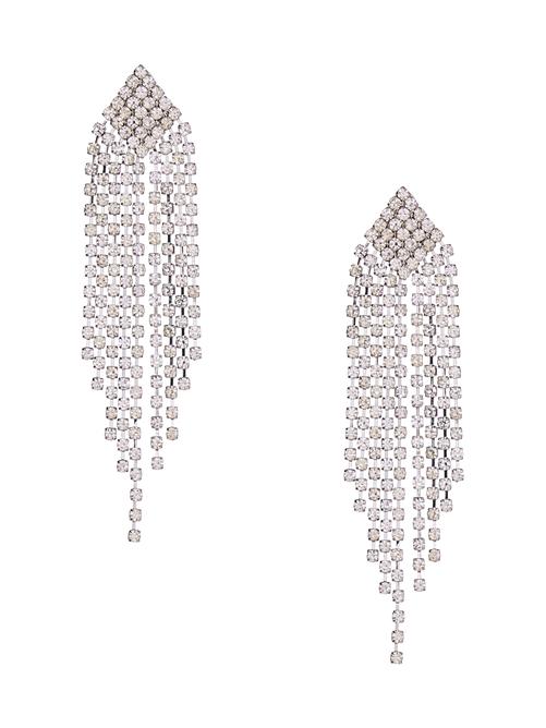 Anastasia Linear Drop Studded Earrings