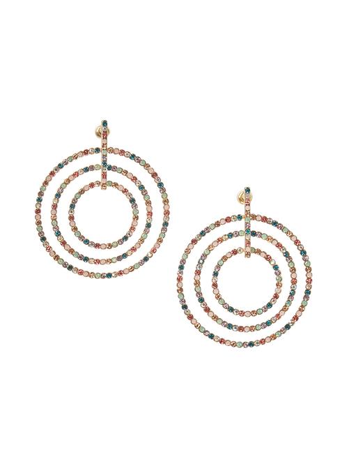 Tati Multi-Color Studded Circular Earrings