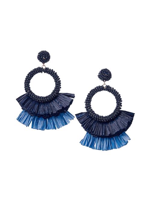 Xander Handmade Raffia Seed Bead Earrings