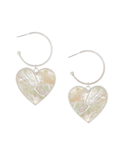 Bella Heart Drop Earrings