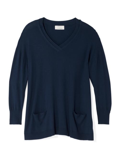 Frostine V-Neck Pocket Sweater
