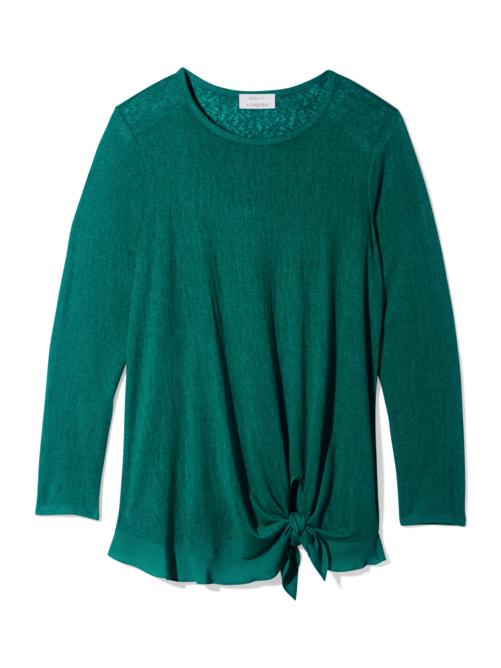 Patty Asymmetric Slit Sweater