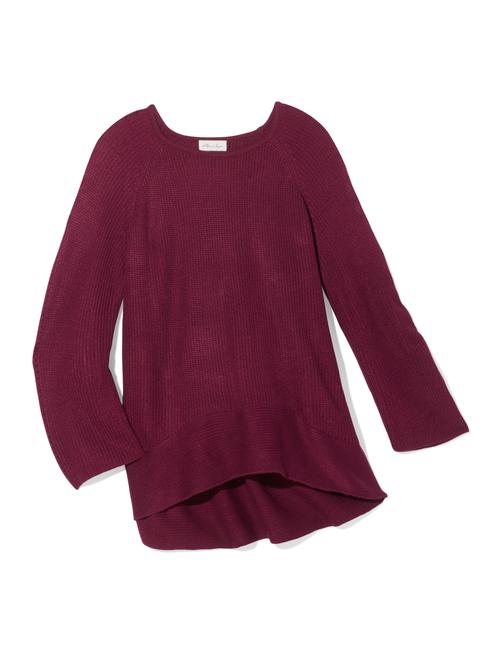 Paulette Hi-Lo Ribbed Sleeve Sweater 2