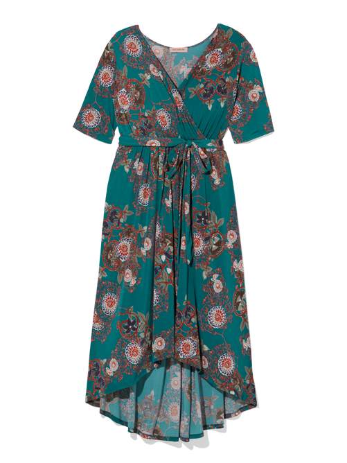 Beverly Hills High-Low Wrap Dress