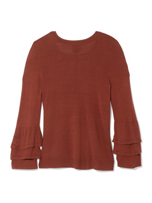 Margo Ruffle Sleeve Sweater 1