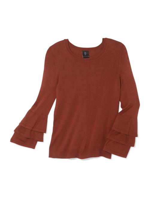 Margo Ruffle Sleeve Sweater 2