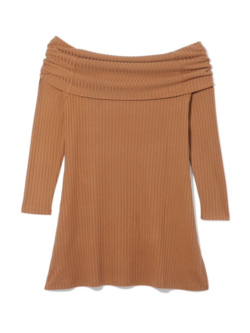 Zahra Off Shoulder Ribbed Sweater 1