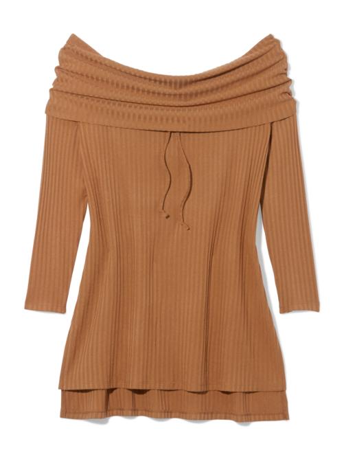 Zahra Off Shoulder Ribbed Sweater 2