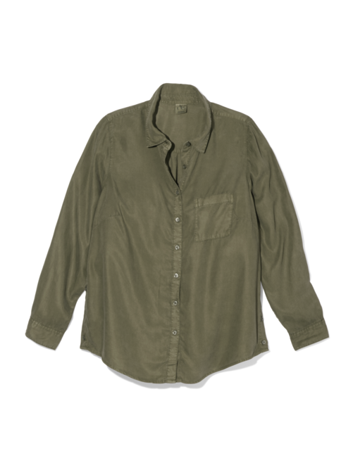 a34c6a282861bd Angie Button Down Blouse - Olive Green | Dia&Co