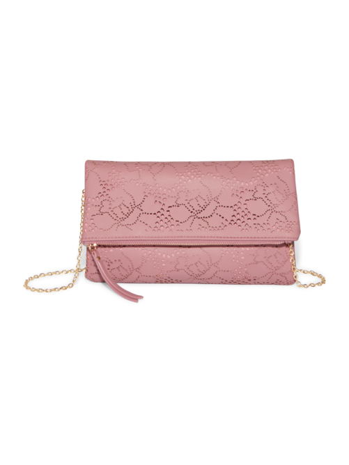 Carrie Perforated Clutch