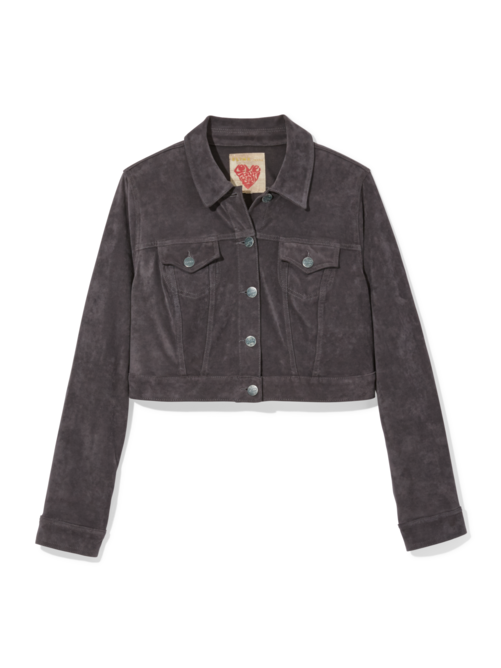 Jocelyn Crop Suede Jacket
