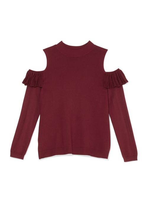 Avina Cold Shoulder Mock Neck Sweater