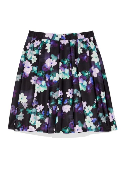 Marano Floral Scuba Flare Skirt 1