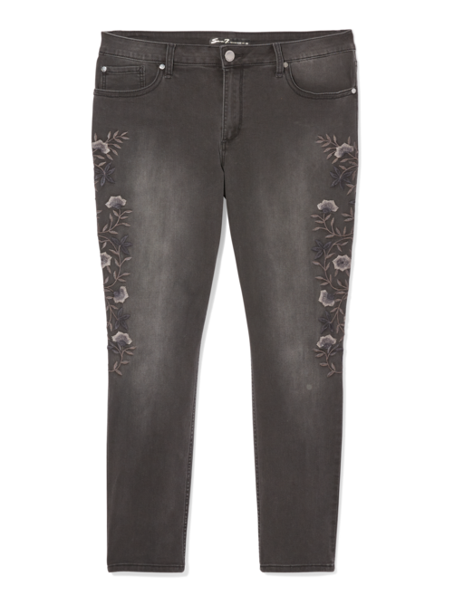 Laurel Skinny Jean With Floral Embroidery Dia Co