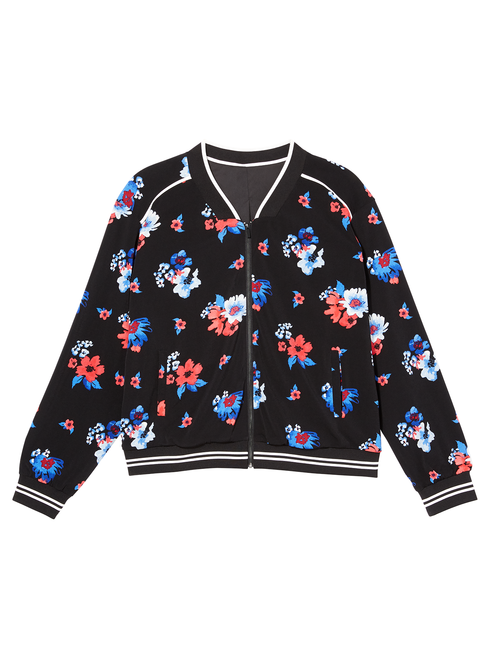 Zoey Printed Bomber Jacket