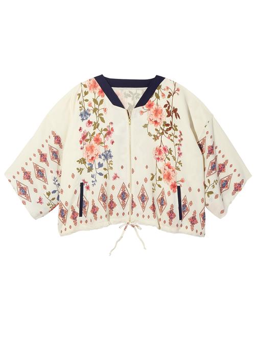 Portia 3/4 Sleeve Kimono Bomber