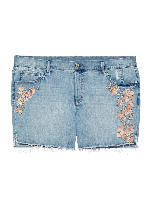 Albany Embroidered Midi Short