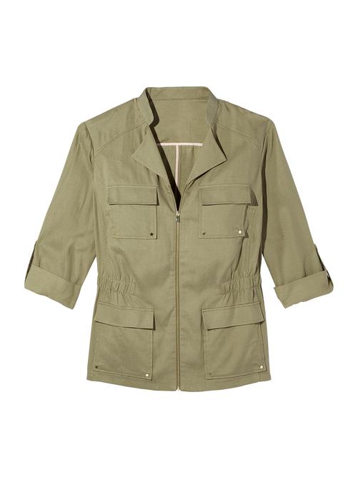 Rhine Elastic Waist Utility Jacket