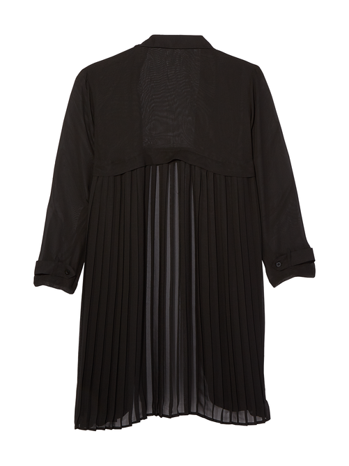 Dylan Pleated Trench Coat 1