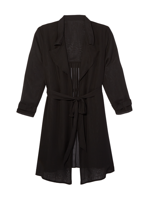 Dylan Pleated Trench Coat