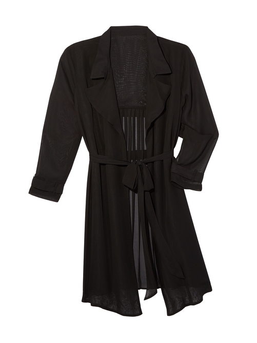 Dylan Pleated Trench Coat 2