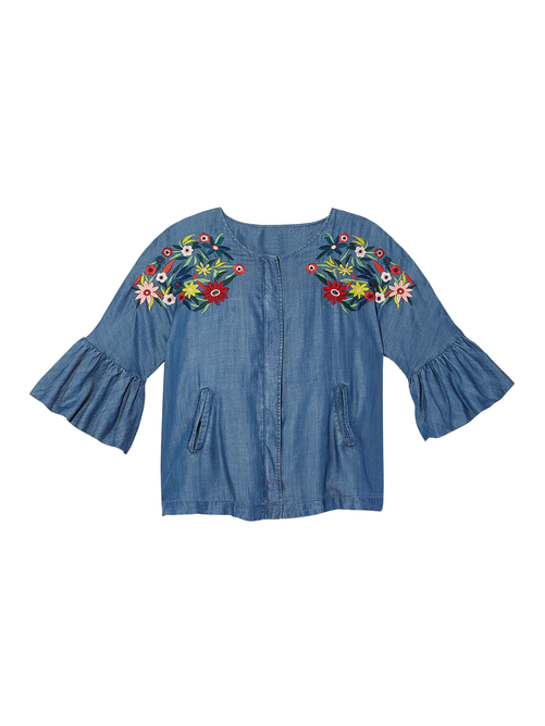 Ximena Embroidered Zip Jacket
