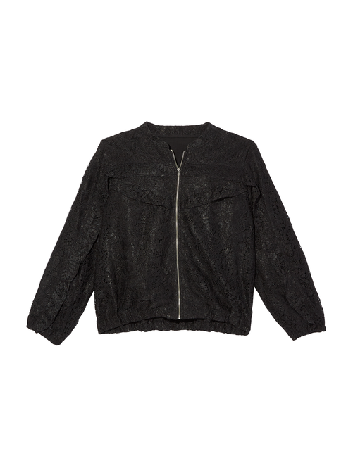 Cassidy Ruffle Detail Laced Bomber