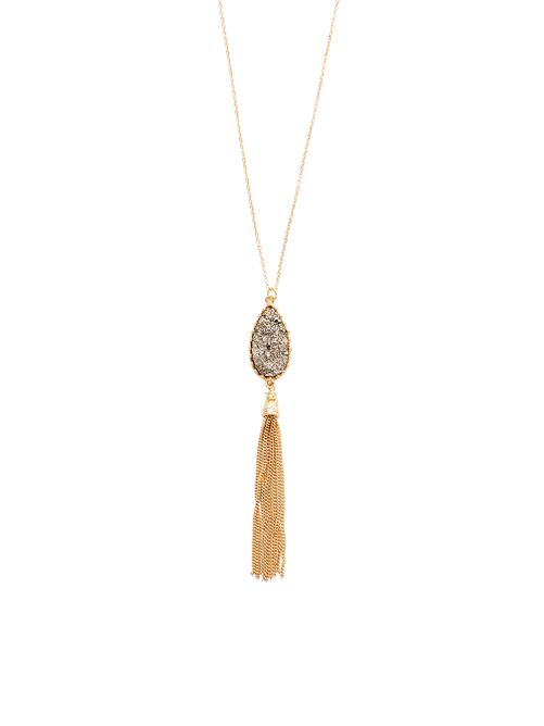 Jamie Druzy Tassel Long Necklace