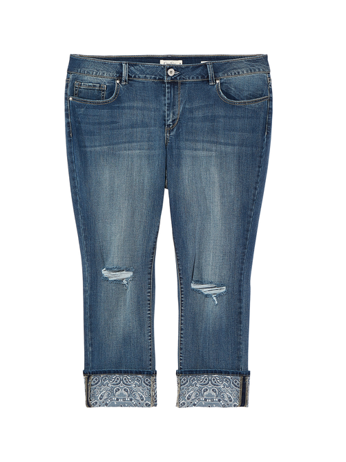 Hanover Straight Jean with Wide Printed Cuff