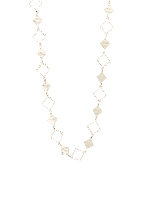 Lilian Square Hammered Necklace