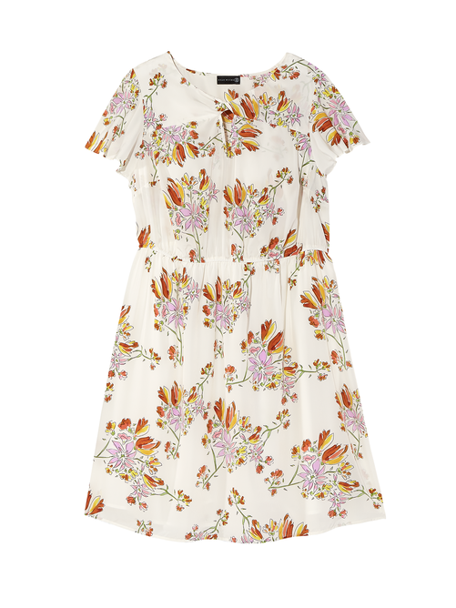 87392fc2df Bridgeport Short Flutter Sleeve Twist Neck Fit and Flare Dress 0