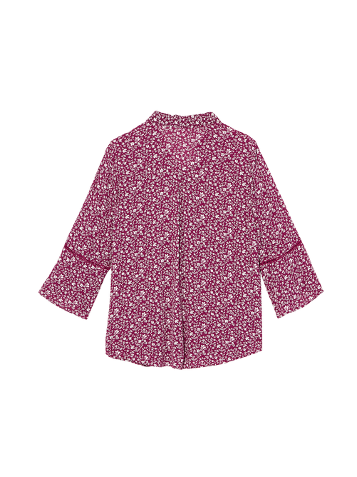 Brenda Button Down Blouse with Bell Sleeve 1