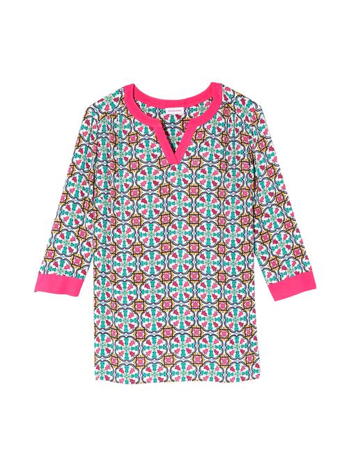 Sadie 3/4 Sleeve Shirred Front Tunic