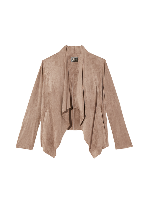 Hudson Faux Suede Draped Jacket