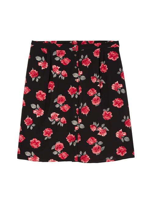 Incas Button Front Skirt