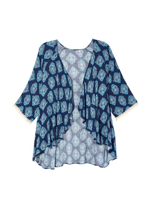 Nami Lace Sleeve Kimono 0