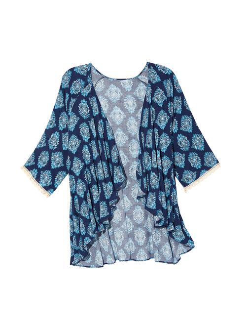Nami Lace Sleeve Kimono 1